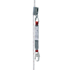 3M™ DBI-SALA® PROTECTA® PRO™ Manual Synthetic Rope Adjuster With 2' PRO™ Shock Absorbing Lanyard