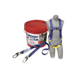 3M™ DBI-SALA® PROTECTA® PRO™ Compliance-In-A-Can™ Light Roofer's Fall Protection Kit (Includes 1191995 First™ Harness, 1341001 Pro™ 6' Single-Leg Shock Absorbing Lanyard, Bucket And 3600 lb Gated Hooks)