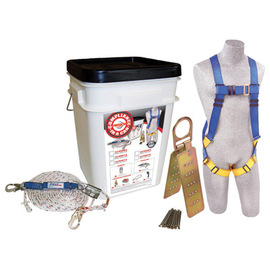 3M™ DBI-SALA® Medium PROTECTA® PRO™ Compliance-In-A-Can™ Roofer's Fall Protection Kit (Includes 1191995 First™ Harness, 1340005 Rope Adjuster With Lanyard, AJ730A Reusable Roof Anchor, 1204001 50' Lifeline And Bucket)