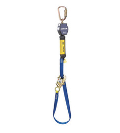 3M™ DBI-SALA® 9' Nano-Lok™ Tie-Back Self-Retracting Nylon Web Lifeline With WRAPABAX™ Gated Snap Hook And Saflok™ Steel Carabiner