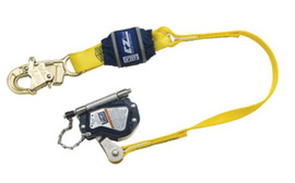 3M™ DBI-SALA® Lad-Saf™ Hands Free Mobile Stainless Steel And Thermoplastic Rope Grab With 3' EZ Stop Shock Absorbing Lanyard (For Use With 5/8