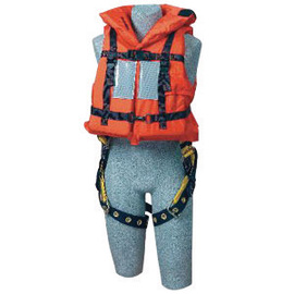 3M™ DBI-SALA® Off-Shore Orange PVC Foam Lifejacket With Back D-Ring Opening, Foam Filled Head Support Collar, Adjustable Straps, Hinged Back Panel, 62 sq-in Reflective Tape And Safety Whistle (For Use With Harness)
