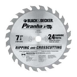 "DEWALT® 7 1/4"" X 5/8"" X .047"" 7000 RPM 24 TPI Piranha® Black & Decker® Carbide Tipped Circular Saw Blade (Bulk Package) | Tuggl"
