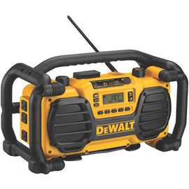 DEWALT® FM/AM Cordless Worksite Radio (Includes AM/FM Digital Tuner, LCD Display, Built-In Clock, 7.2 - 18 V Battery And Auxiliary Port)