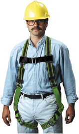 Miller® by Honeywell Universal DuraFlex® Construction/Full Body Style Green Harness With Back D-Ring, Friction Shoulder Strap Buckle, Tongue Leg Strap Buckle, Mating Chest Strap Buckle, Sub-Pelvic Strap, Pull-Up Adjustment, Pull-Free Lanyard Ring And Be | Tuggl