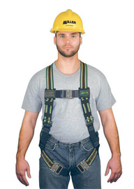 Miller® by Honeywell Universal DuraFlex® Construction/Full Body Style Harness With Back D-Ring, Friction Shoulder Strap Buckle, Mating Leg And Chest Strap Buckle, Sub-Pelvic Strap, Pull-Up Adjustment, Pull-Free Lanyard Ring And Belt Loop | Tuggl