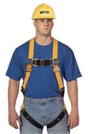 Miller® by Honeywell Medium Titan™ Non-Stretchable Full Body Style Harness With Back D-Ring, Mating Shoulder Strap Buckle, Tongue Buckle Leg Strap, Mating Chest Strap Buckle, Sub-Pelvic Strap And Pull-Free Lanyard Ring | Tuggl