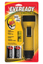 Energizer® Yellow Industrial Economy Flashlight With LED (Requires 2 D Batteries Included)