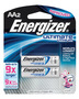 Energizer® Ultimate® e2® 1.5 Volt AA Cylindrical Lithium Battery (2 Per Card)