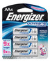Energizer® Ultimate® e2® 1.5 Volt AA Cylindrical Lithium Battery (4 Per Card)