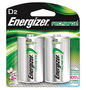 Energizer® Eveready® 1.2 Volt D Nickel-Metal Hydride Rechargeable Battery With Flat Contact Terminal
