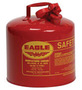 Eagle 5 Gallon Red 24 Gauge Galvanized Steel Type I Safety Can With Non-Sparking Flame Arrestor Without Funnel