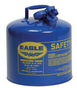 Eagle 5 Gallon Blue 24 Gauge Galvanized Steel Type I Safety Can With Non-Sparking Flame Arrestor Without Funnel