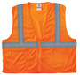 Ergodyne Small - Medium Orange GloWear® 8210Z Polyester/Mesh Vest