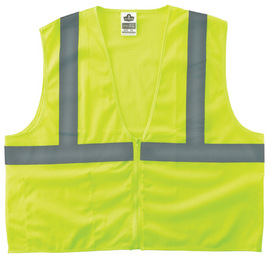 Ergodyne Small - Medium Lime GloWear® 8210Z Polyester/Mesh Vest