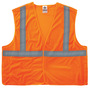 Ergodyne Small - Medium Orange GloWear® 8215BA Polyester/Mesh Vest