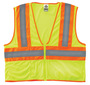 Ergodyne Small - Medium Lime GloWear® 8229Z Polyester/Mesh Vest