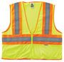 Ergodyne Small - Medium Lime GloWear® 8230Z Polyester/Mesh Vest