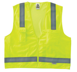 Ergodyne Small - Medium Lime GloWear® 8250Z Polyester/Mesh Vest