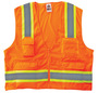 Ergodyne 2X - 3X Orange GloWear® 8248Z Polyester/Polyester Mesh Two-Tone Surveyor Vest With Mesh Back