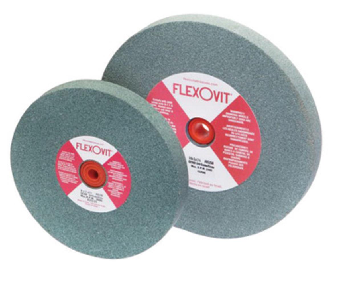 Airgas Fleu4670 Flexovit 6 X 3 4 X 1 Fine Gc120 Silicon Carbide Type 1 Bench Grinder Wheel