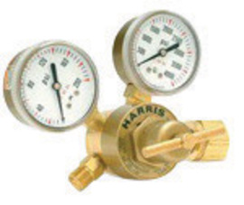Harris® Model 301-100-580 Heavy Duty Argon, Helium Or Nitrogen Calibration Single Stage Regulator, CGA-580