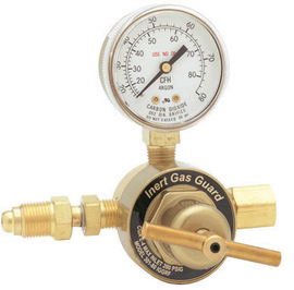 Harris® Model 301-80-IGGRF-032 Heavy Duty Wire Feeder Mount Argon Or Carbon Dioxide Calibration Single Stage Flowgauge Regulator With Inert Gas Guard® And Gauge