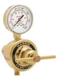 Harris® Model 447NC-15-CR High Flow Heavy Duty Low Pressure Oxygen Single Stage Station Regulator With Neoprene Seat