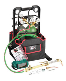 Harris® Model 85601-200 Port-A-Torch® Deluxe Heavy Duty Brazing, Welding And Cutting Outfit With 20 cu ft R Oxygen Cylinder And 10 cu ft MC Acetylene Cylinder, CGA-200