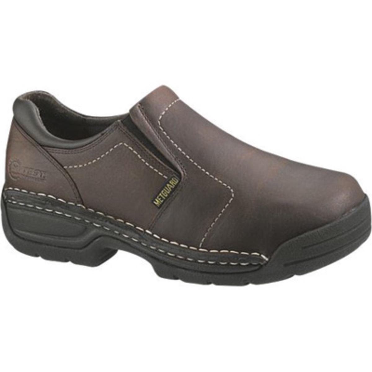 Airgas - HY110241-11W - Hytestu00ae 11-W Brown Grain Leather Opanka Slip-On Menu0026#39;s Womenu0026#39;s Safety ...