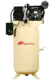 Ingersoll Rand Model 2475N5-V 5 HP 16.8 CFM 230 V 1 PH 60 Hz 175 PSIG Type 30 Stationary Two-Stage Reciprocating Air Compressor With 80 Gallon Vertical Tank And Bare Pump