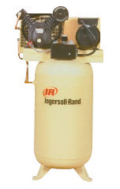 Ingersoll Rand Model 2475N7.5-P 7.5 hp 24 CFM 230 V 1 PH 60 Hz 175 PSIG Type 30 Stationary Two-Stage Reciprocating Air Compressor With 80 Gallon Vertical Tank, 3/4