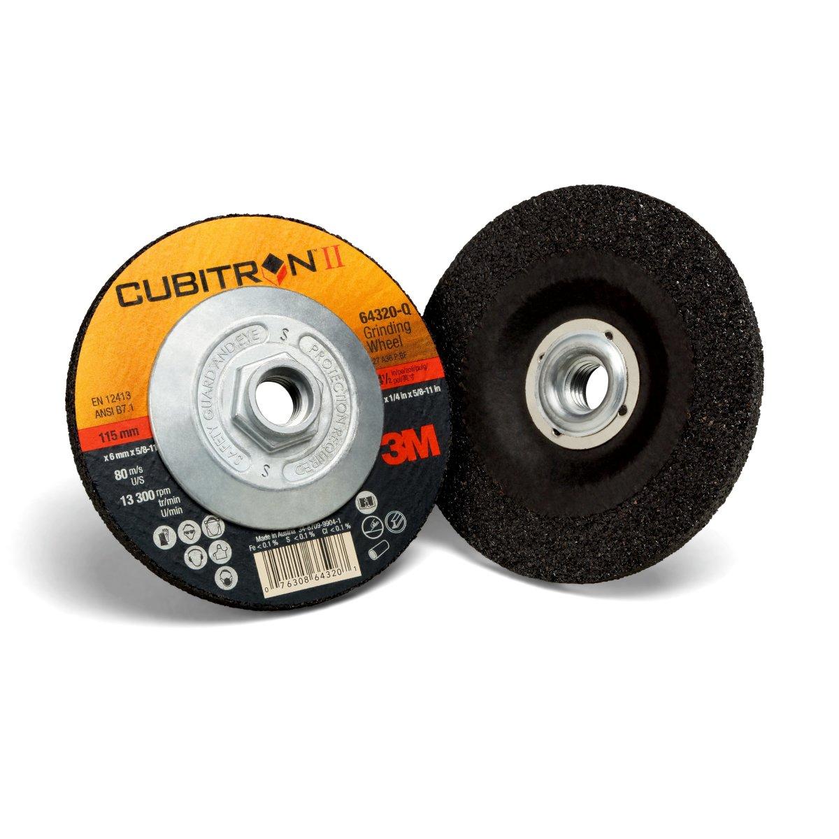 Cubitron II 64403 3M Flap Disc 969F T27 4-1//2 x 5//8-11 40+ YF-Weight Polyester Film Backing Precision Shaped Ceramic Grain Abrasive Grit 4.5 Diameter Giant