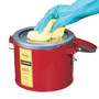 Justrite® 6 Quart Red Steel Swab Pail With 7-1/2