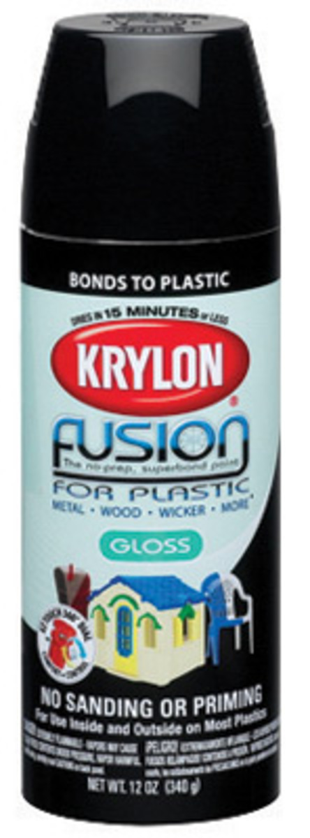 products group 16 ounce aerosol can black fusion for plastic paint. Black Bedroom Furniture Sets. Home Design Ideas