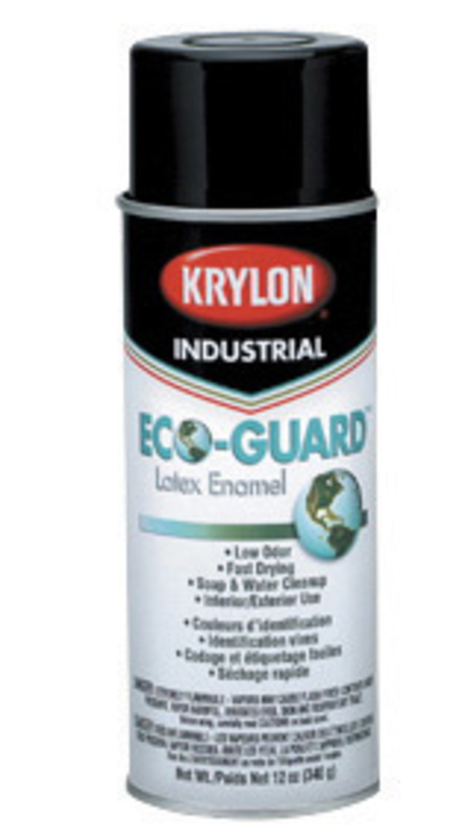 group 16 ounce aerosol can gray eco guard latex enamel spray paint. Black Bedroom Furniture Sets. Home Design Ideas