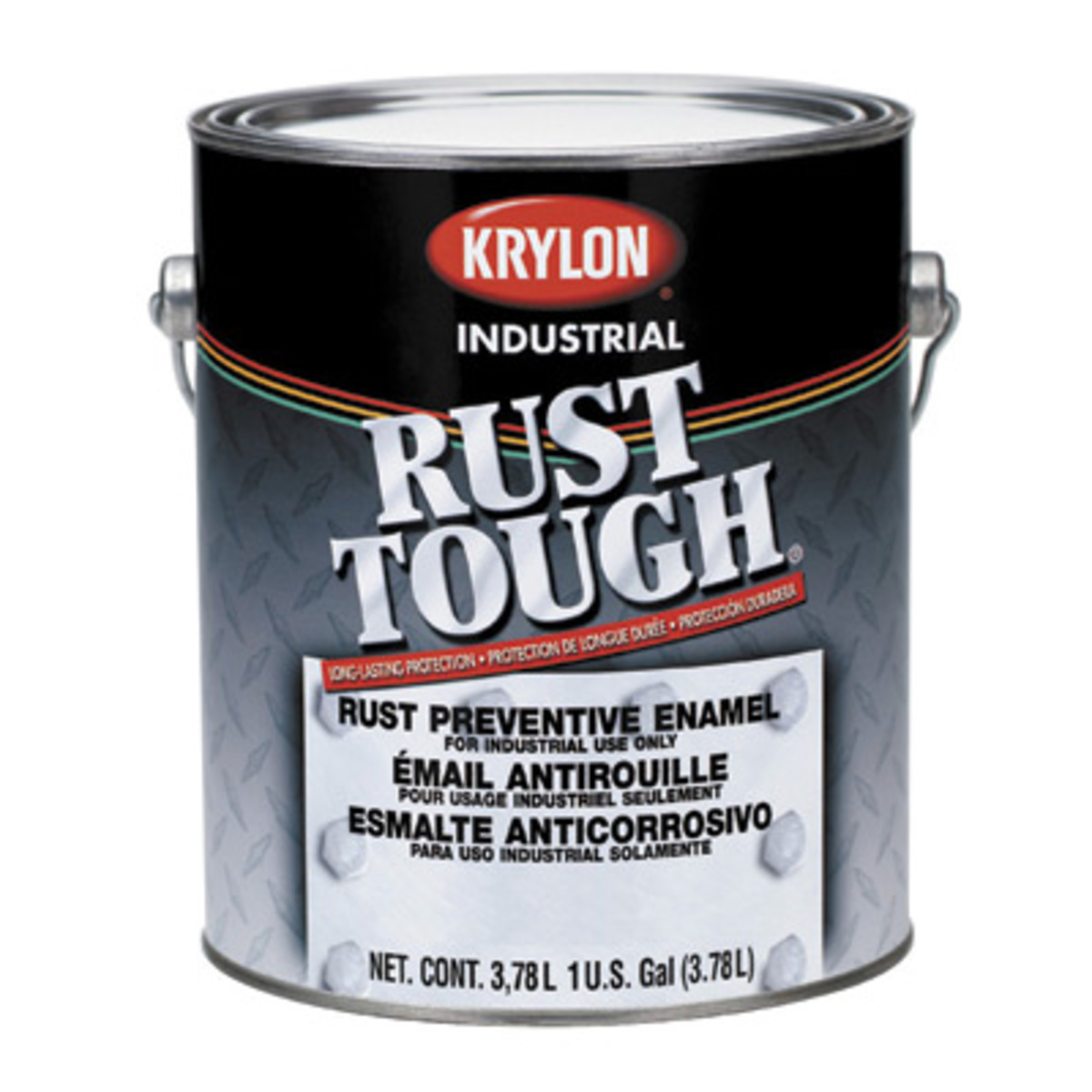 Krylon Products Group 1 Gallon Can White Rust Tough Interior Exterior Acrylic Modified