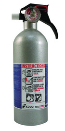 Kidde Auto FX5 II 2 Pound Regular Dry Chemical 5-B:C Automobile Fire Extinguisher For Class B And C Fires With Nylon Valve And Strap Retention Wall Bracket