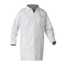 Kimberly-Clark Professional* X-Large White KleenGuard* A40 Microporous Film Laminate Disposable Liquid And Particle Lab Coat/Lab Jacket