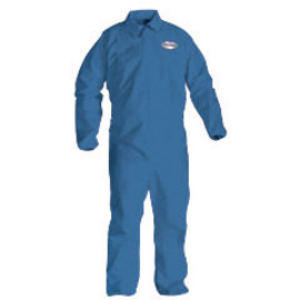 Kimberly-Clark Professional* Large Blue KleenGuard* A20 SMMMS Disposable Breathable Particle Protection Bib Overalls/Coveralls