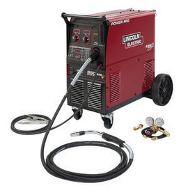 Lincoln Electric® Power MIG® 350MP MIG Welder 208/230/460/575Volt With Magnum® PRO Curve™ 300 Gun With 15' Leads, Work Clamp And Cable, Gas Regulator And Hose, Cord And Plug And 115V Receptacle
