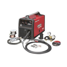Lincoln Electric® Power MIG® 140C MIG Welder, 120 Volt, With Magnum® PRO 100L MIG Gun With 10' Leads, Work Cable And Clamp, Gas Regulator And Hose