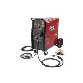 Lincoln Electric® Power MIG® 256 MIG Welder 208/230Volt With Magnum® PRO 250L Gun With 15' Leads, Built-In Undercarriage Work Cable And Clamp, Gas Regulator And Hose Kit, 10' Power Cable With Plug