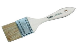 """Linzer Products 1 1/2"""" X 5/16"""" X 1 1/2"""" White China Bristle Promotional Paint Brush With Steel Ferrule And Natural Wood Handle (For Use With Latex, Chip And Touch-Up Paint) 