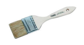 """Linzer Products 3"""" X 1 1/2"""" X 3/8"""" White China Bristle Promotional Paint Brush With Steel Ferrule And Natural Wood Handle (For Use With Latex, Chip And Touch-Up Paint) 