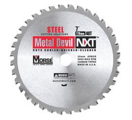 "Morse® 7 1/4"" X 5/8"" 5800 RPM 60 TPI Metal Devil® NXT™ Carbide Tipped Circular Saw Blade (For Metal Cutting) | Tuggl"