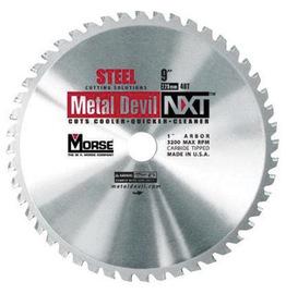 "MK Morse 9"" X 1"" 3200 RPM 48 TPI Metal Devil® NXT™ Circular Saw Blade (For Use With Morse Metal Devil™ CSM9MB Metal Cutting Circular Saw, Evolution Steel Saw 5 Extreme Metal Cutting Saw And Jancy MCSL09 / MCSL09-2 Dry Cutting Metal Saw) | Tuggl"