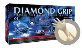 Ansell Small Natural Microflex® Diamond Grip™ 6.3 mil Latex Medical Grade Powder-Free Disposable Gloves (100 Gloves Per Box)