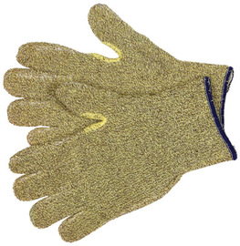 Memphis Glove Medium Brown And Yellow 7 Gauge Regular Weight Kevlar® Cotton Blend Terry Cloth Heat Resistant Gloves With Reinforced Crotch Thumb And Continuous Knit Wrist