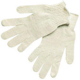 Memphis™ Large Yellow Cotton Uncoated Work Gloves With Knit Wrist